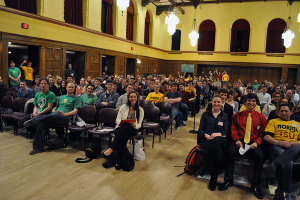 The crowd at Iowa State University's NORML event Sunday night.
