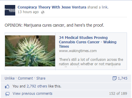 Conspiracy Theory Cannabis Cancer Cure